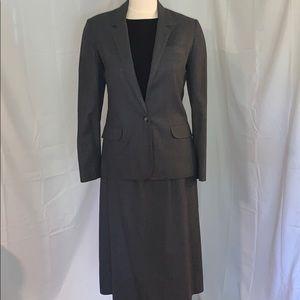 Vtg prophecy grey pinstripe wool suit woman's